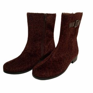 L'amour animal print boots girls size 1
